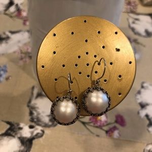 Samuel B Sterling Silver Mabe Pearl Earrings